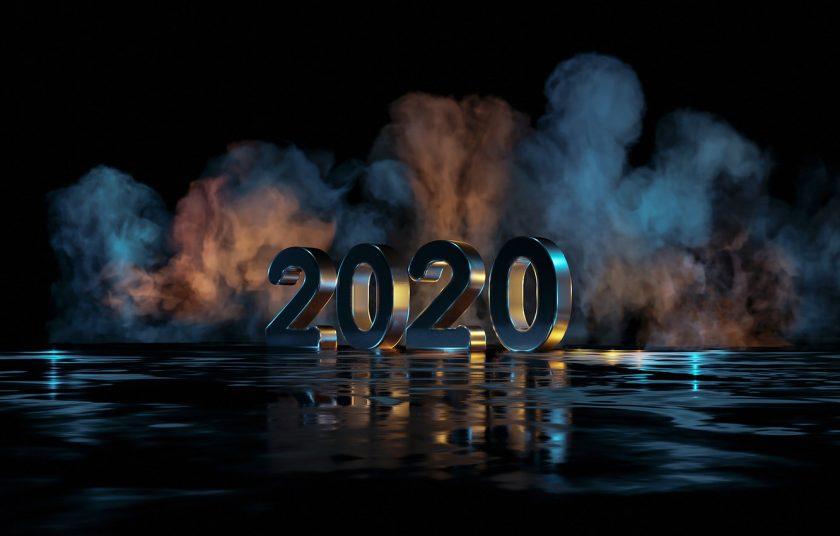 hình nền 3D năm mới 2020