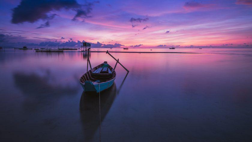 hình nền background cảnh buổi sáng ven biển