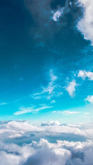 hình nền bầu trời xanh cho điện thoại