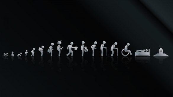 Hình nền đen đẹp về vòng đời của 1 con người