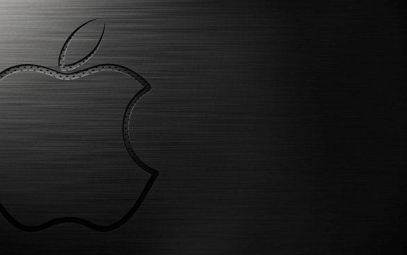 Hình nền táo khuyết trong không gian màu đen