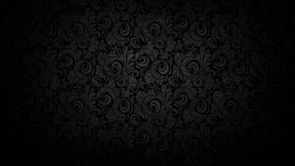 Hình nền đen và các họa tiết hoa văn hình chiếc lá