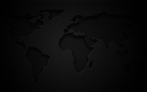Hình nền đen về bản đồ trái đất