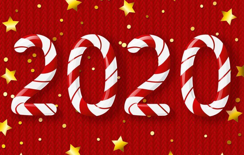 Hình nền năm mới 2020 kẹo ngọt