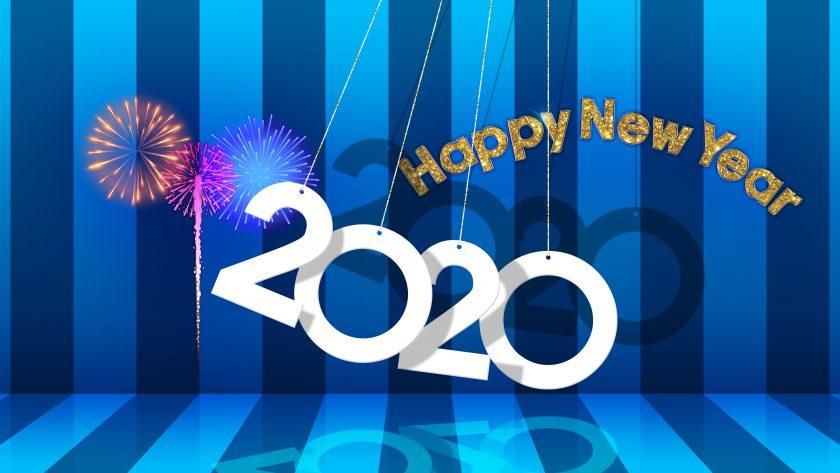 hình nền năm mới 2020 theo phong cách lúc lắc