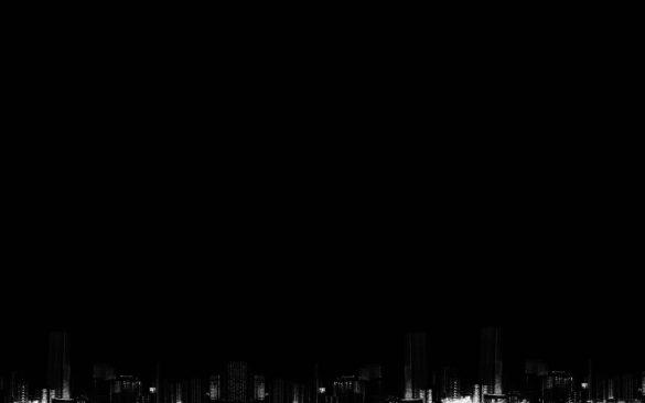 Hình nền thành phố đen trắng trong đêm
