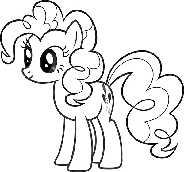 hinh pony cho be to mau