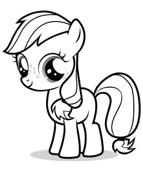 hinh to mau my little pony