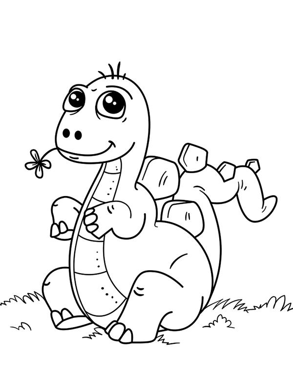 hình vẽ khủng long dễ thương