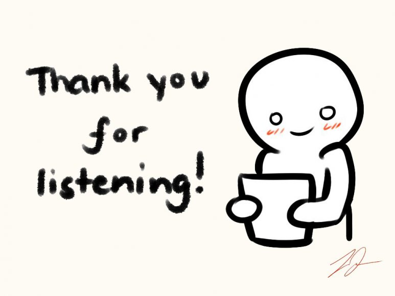 slide thank you for listening powerpoint