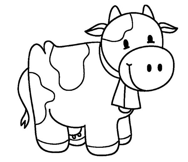 tô màu con bò sữa cho bé