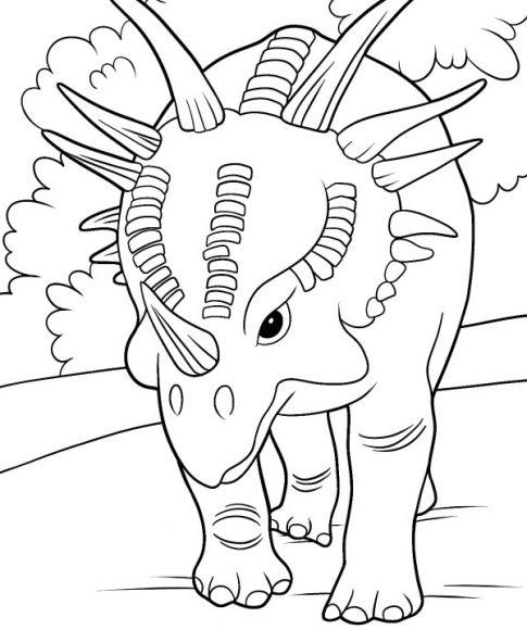 tô màu khủng long bé 5 tuổi