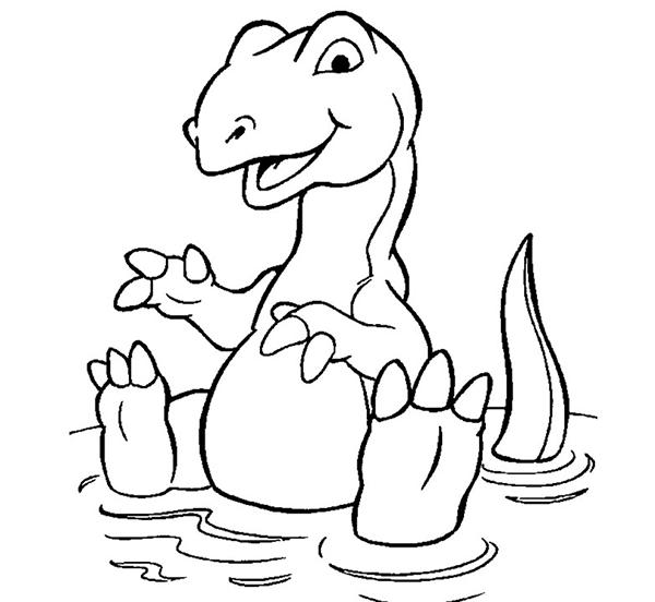 tô màu khủng long