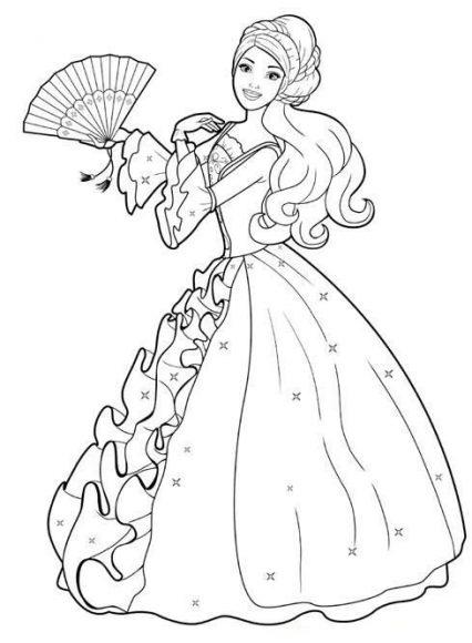 tô màu tranh công chúa barbie