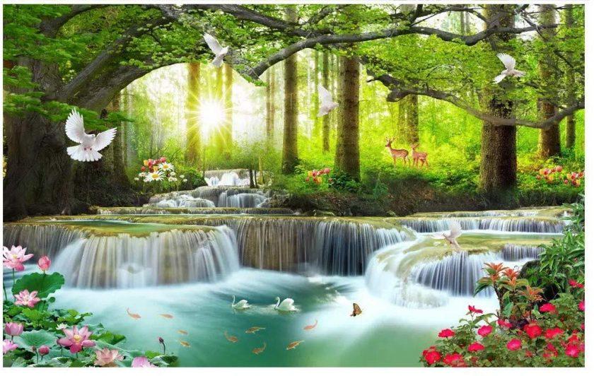 tranh thiên nhiên 3D