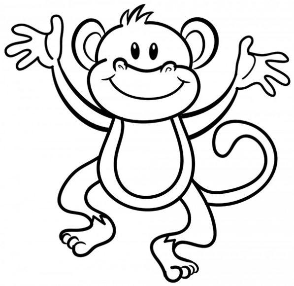tranh tô màu con khỉ ngộ nghĩnh, vui nhộn