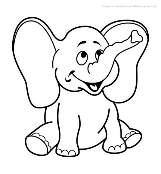 tranh tô màu con voi