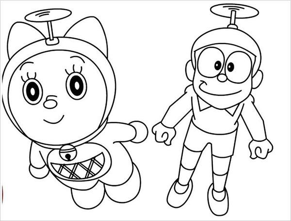 tranh to mau doremi va nobita