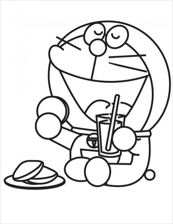 tranh to mau doremon cute dang yeu