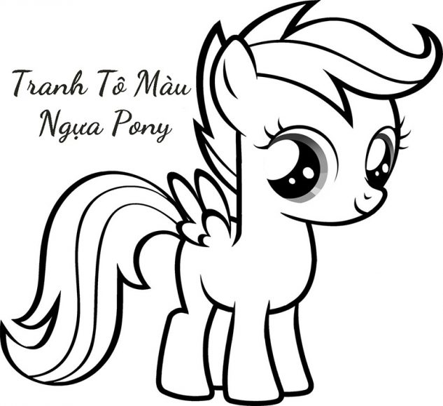 tranh to mau ngua pony