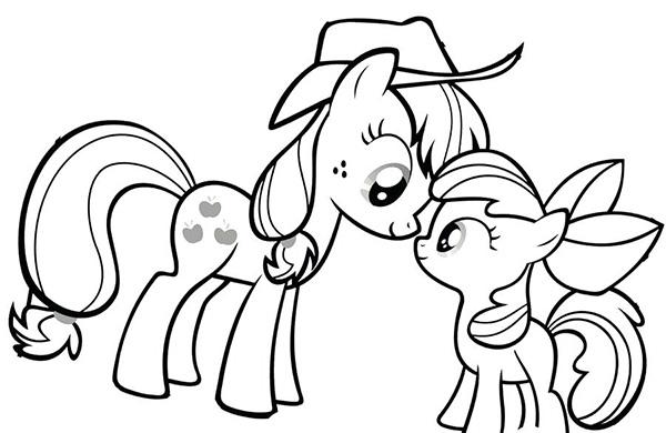 tranh to mau ngua pony dep