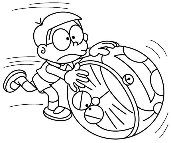 tranh to mau nobita cho be