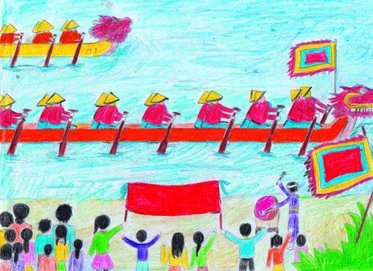 Tổng hợp hình ảnh vẽ tranh đề tài lễ hội đẹp