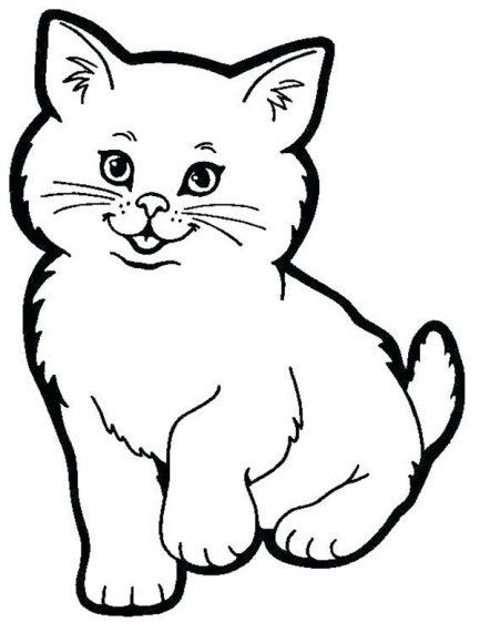 tranh vẽ đen trắng con mèo