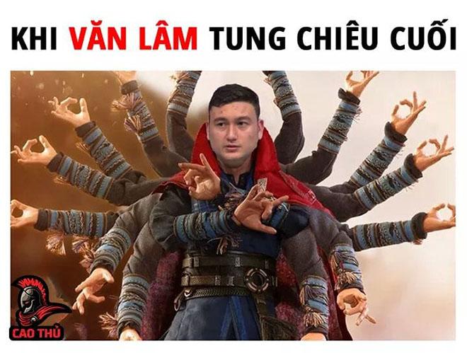 anh che bong da Van Lam tung chieu cuoi
