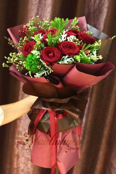 anh hoa valentine hoa hong