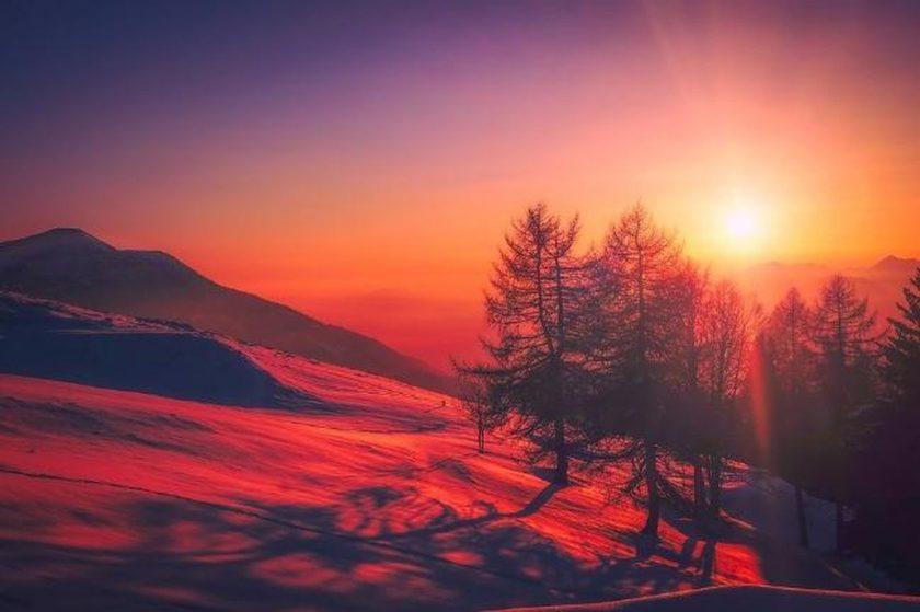 ảnh mặt trời bình minh trên núi