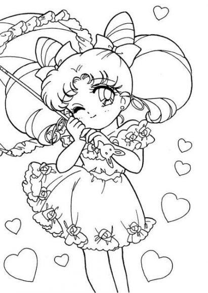 chibi tranh to mau anime thuy thu mat trang