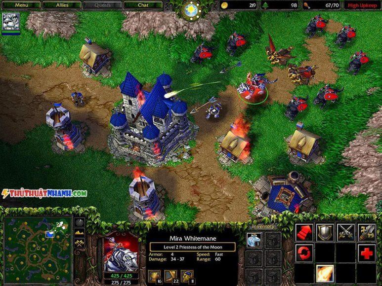 game offline pc xay thanh danh tran warcraft 3
