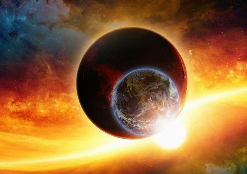 hình ảnh 3D Mặt Trời và Trái Đất