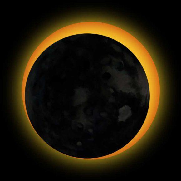 hình ảnh Mặt Trời lúc nhật thực