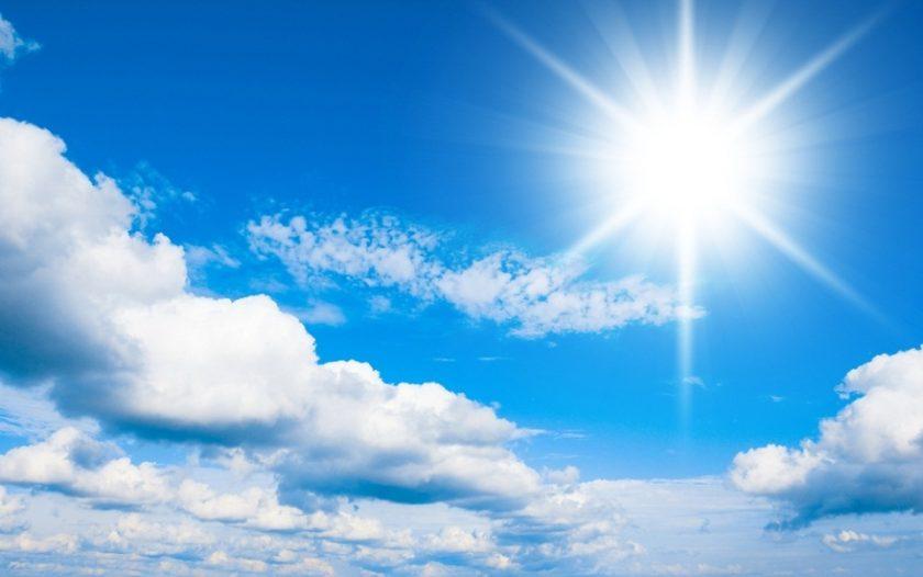 hình ảnh Mặt Trời nắng gắt