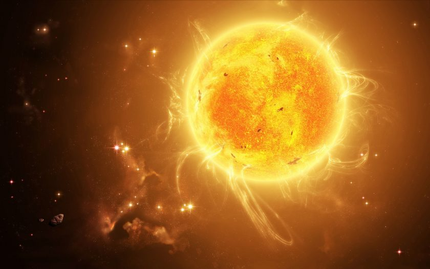 hình ảnh Mặt Trời và lưỡi lửa