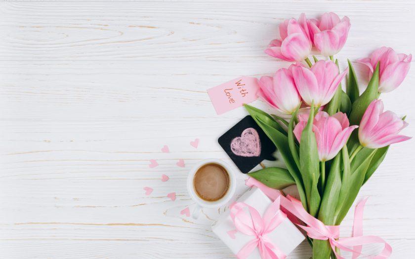 hoa tulip hong dang tang ban gai ngay le tinh yeu