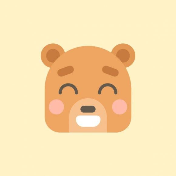 icon ban gau hien lanh cute