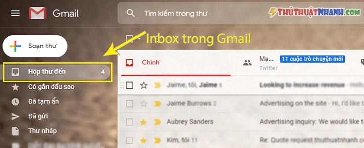 inbox trong gmail