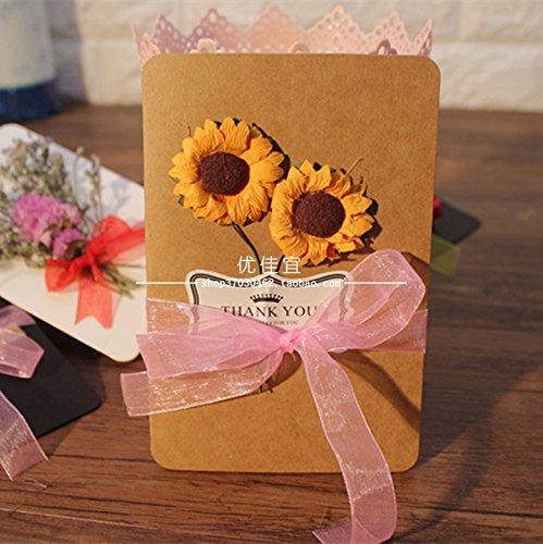 thiep valentine handmade hoa huong duong dep