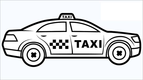 to mau o to taxi cho be