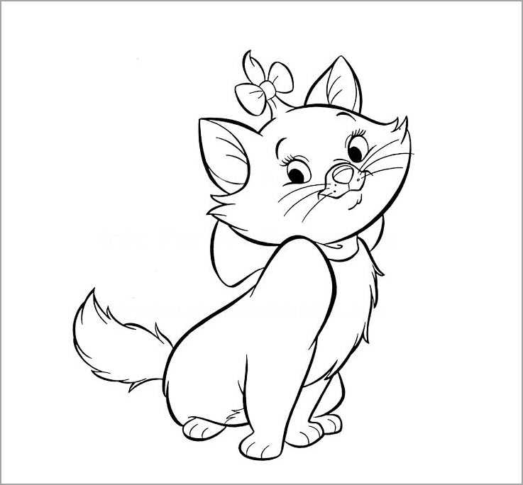 hình ảnh chú mèo dễ thương cho bé tập tô
