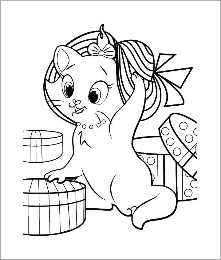 tranh to màu con mèo