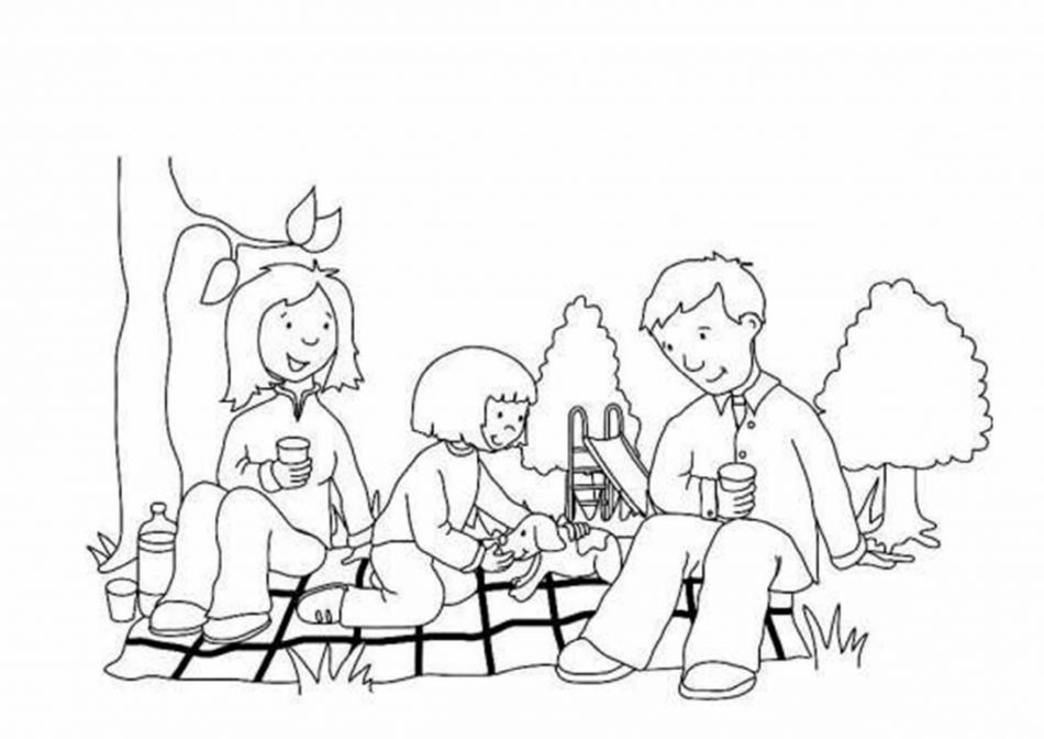 Tranh vẽ cho bé với đề tài gia đình 3 người