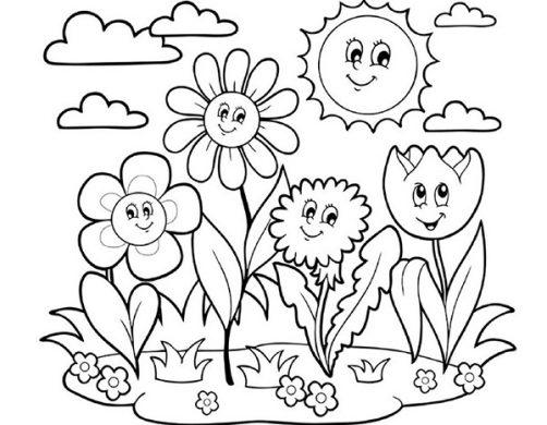 tranh to mau hoa co