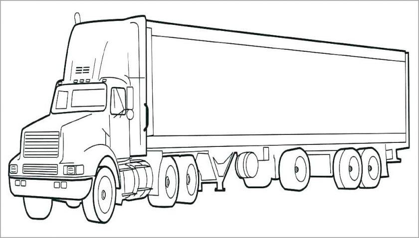 tranh to mau phuong tien giao thong duong bo xe container