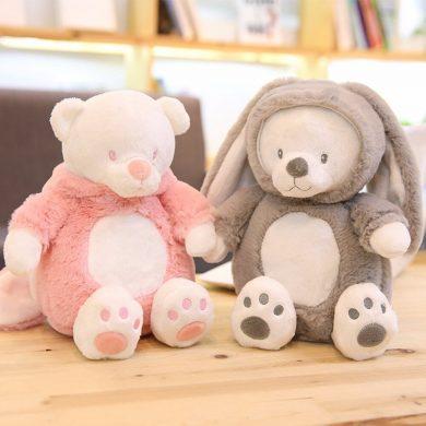 2 chú gấu bông được mặc trang phục thật dễ thương
