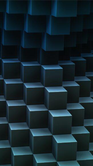 ảnh nền điện thoại 3D những hộp vuông