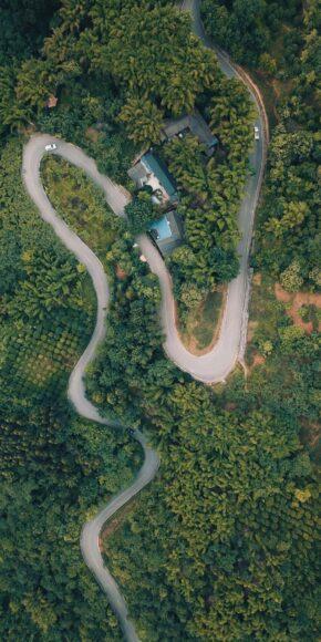 ảnh nền thiên nhiên và con đường cho đt